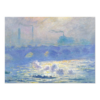Puente de Waterloo de Claude Monet Invitación
