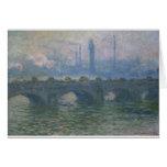 Puente de Waterloo de Claude Monet Tarjeta De Felicitación