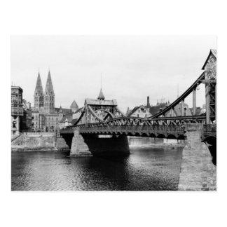 Puente de Weser Bremen c 1910 Postales