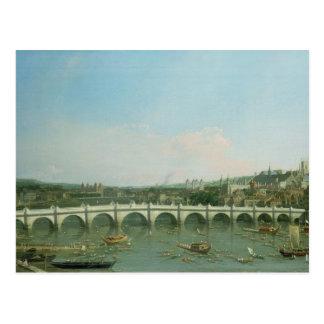 Puente de Westminster del norte con Lambeth Tarjetas Postales