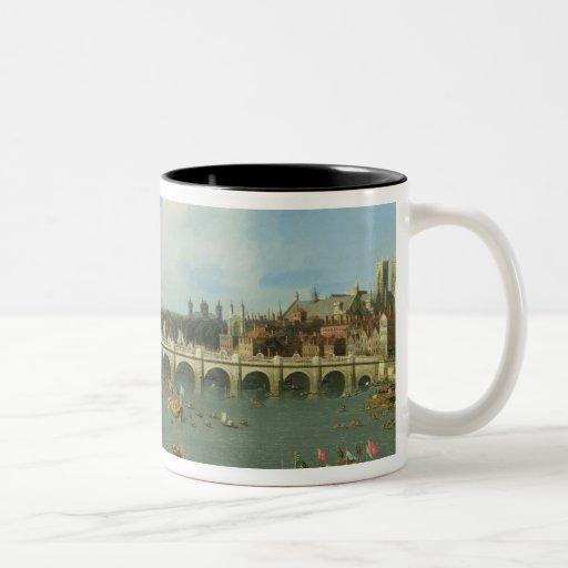 Puente de Westminster, Londres, con el señor el al Tazas De Café
