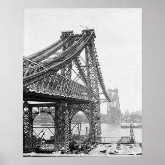 Puente de Williamsburg debajo de Construction, Póster