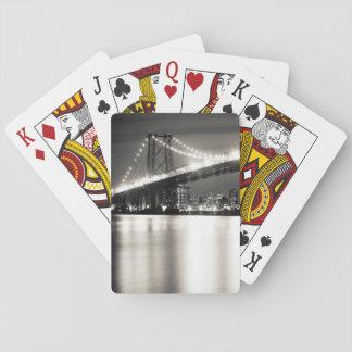 Puente de Williamsburg en New York City en la noch Baraja De Cartas