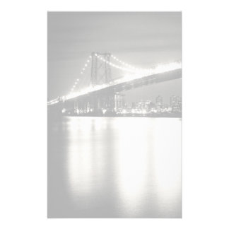 Puente de Williamsburg en New York City en la noch Papeleria De Diseño