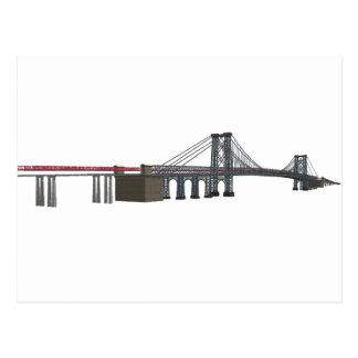 Puente de Williamsburg: modelo 3D: Tarjeta Postal