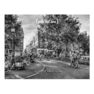 Puente de Wolvenstraat Singel, vistas de Amsterdam Postales