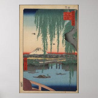 Puente de Yatsumi Póster