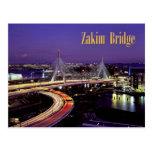 Puente de Zakim, Boston en la noche Postal