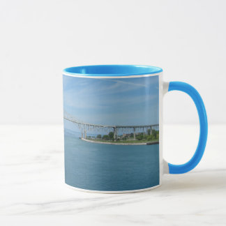 Puente del agua azul, puerto Huron, MI Sarnia, Taza