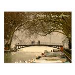 Puente del amor, Annecy, Francia Tarjetas Postales