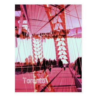 Puente del arco del río de Humber, Toronto, Sunnys Tarjeta Postal