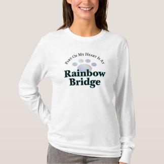 Puente del arco iris con la camiseta larga de la