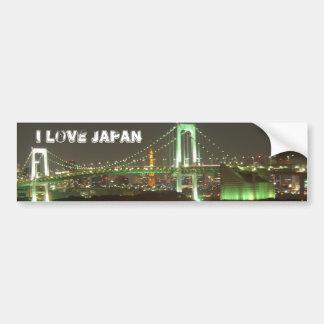 Puente del arco iris de Japón Pegatina Para Auto