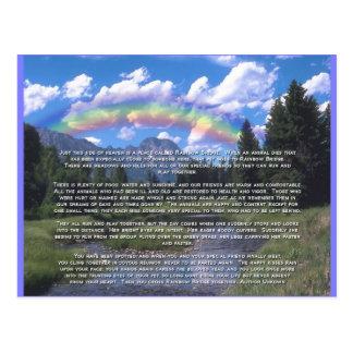 Puente del arco iris de la tarjeta de condolencia tarjetas postales