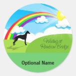 Puente del arco iris etiquetas redondas