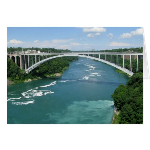 Puente del arco iris, Niagara Falls Tarjeta