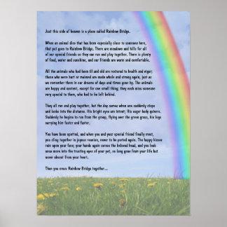 Puente del arco iris poster