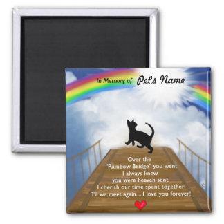 Puente del arco iris para los gatos imán cuadrado