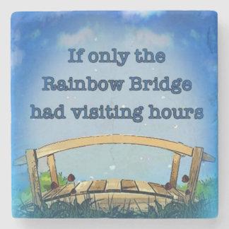 Puente del arco iris posavasos de piedra