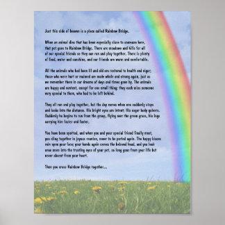 Puente del arco iris póster
