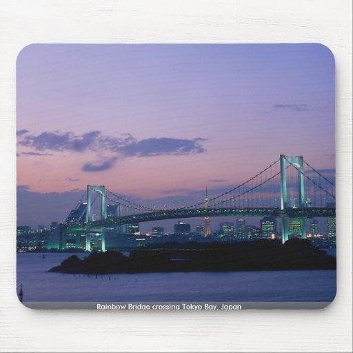 Puente del arco iris que cruza la bahía de Tokio,  Tapetes De Ratón