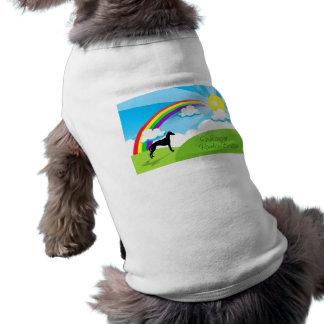 Puente del arco iris camisa de perrito