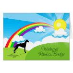 Puente del arco iris tarjeta