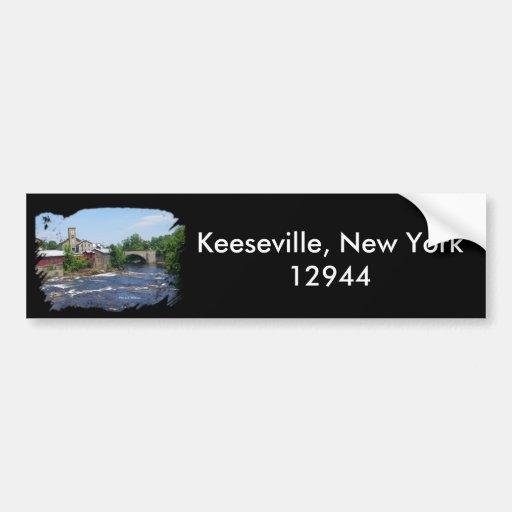 Puente del arco, Keeseville, Nueva York 12944 Pegatina Para Auto