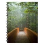 Puente del bosque de la secoya libros de apuntes con espiral