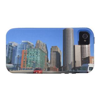 Puente del bulevar del puerto y horizonte de Bosto Case-Mate iPhone 4 Fundas