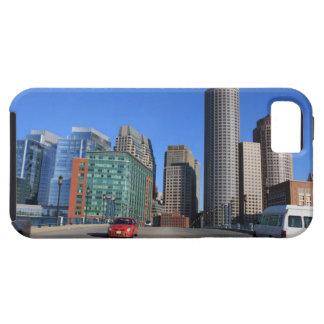 Puente del bulevar del puerto y horizonte de Bosto iPhone 5 Case-Mate Fundas