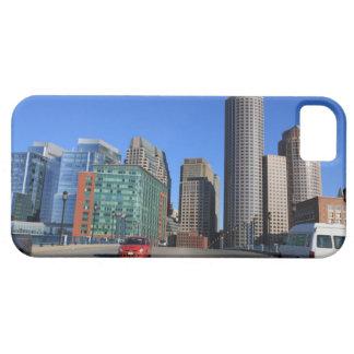 Puente del bulevar del puerto y horizonte de Bosto iPhone 5 Carcasas