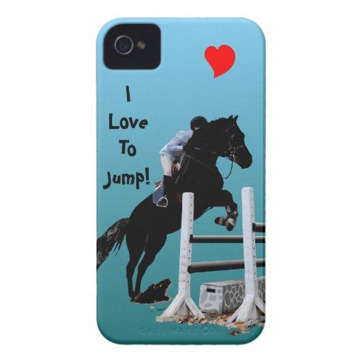 Puente del caballo de la diversión iPhone 4 Case-Mate cárcasas