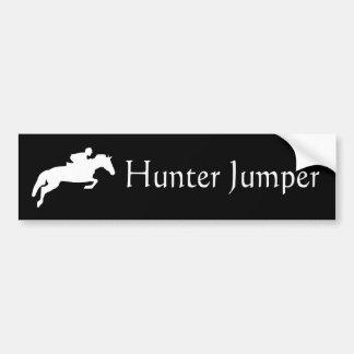 Puente del cazador etiqueta de parachoque