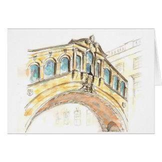 Puente del dibujo del watercolour de los suspiros tarjeta de felicitación