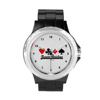 Puente del equipo (cuatro juegos de la tarjeta) relojes de mano