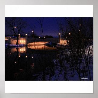 Puente del este Madison Wisconsin de la avenida de Poster