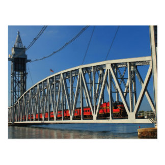 Puente del ferrocarril del canal de Cape Cod Tarjetas Postales