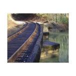 Puente del ferrocarril lienzo envuelto para galerias