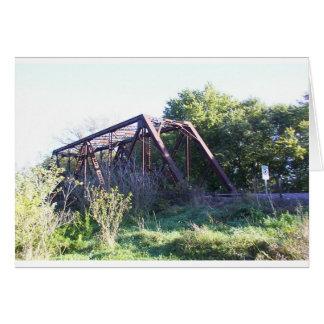 Puente del ferrocarril tarjeta de felicitación