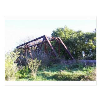 Puente del ferrocarril tarjeta postal