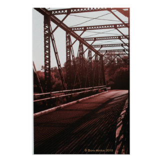 Puente del hierro del braguero de Pratt Póster