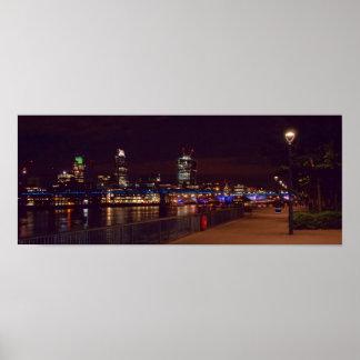 Puente del horizonte y del milenio de Londres Impresiones