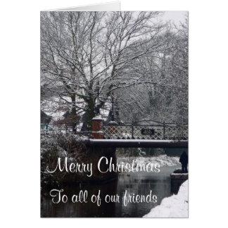 Puente del horno en tarjeta de Navidad del