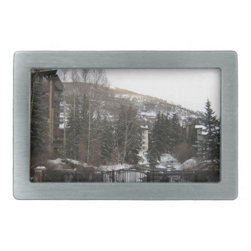 Puente del invierno hebilla cinturon rectangular