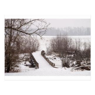 Puente del invierno tarjeta postal