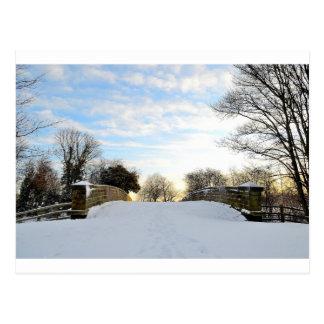 Puente del invierno tarjetas postales