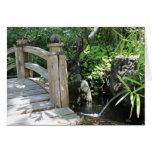 Puente del jardín felicitación