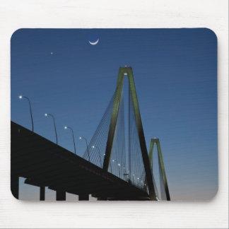 Puente del Jr. de Arturo Ravenel en la oscuridad Alfombrillas De Ratón