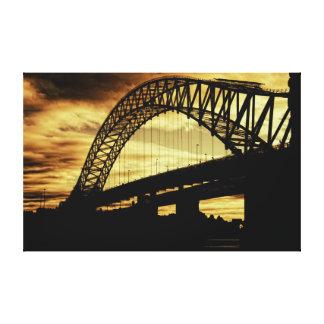 Puente del jubileo de plata lona envuelta para galerias